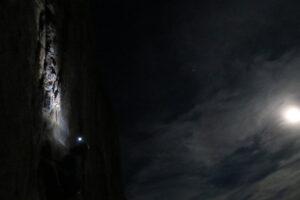Kletteraktion bei Vollmond